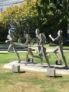 August 4 2018 Statue of Runners in Olympic Statue Park
